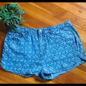 Moto for Topshop Flower Shorts - Size 6/28